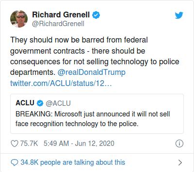 Nom : Screenshot_2020-06-17 Trump 'retweete' un appel au boycott gouvernemental de Microsoft.png Affichages : 4233 Taille : 38,2 Ko