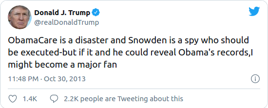 Nom : Screenshot_2020-08-17 Trump said he's considering a pardon for Edward Snowden after previously c.png Affichages : 2382 Taille : 29,5 Ko