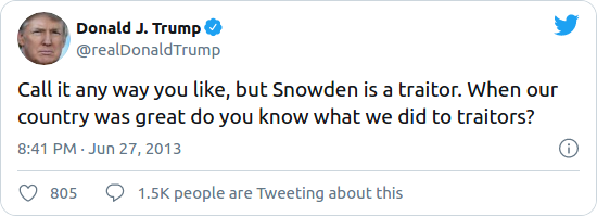 Nom : Screenshot_2020-08-17 Trump said he's considering a pardon for Edward Snowden after previously c.png Affichages : 2313 Taille : 26,4 Ko