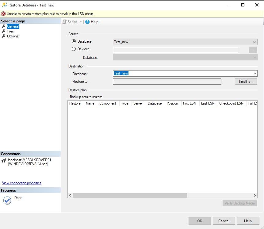 Nom : SQL Server Restore KO.jpg Affichages : 55 Taille : 77,8 Ko