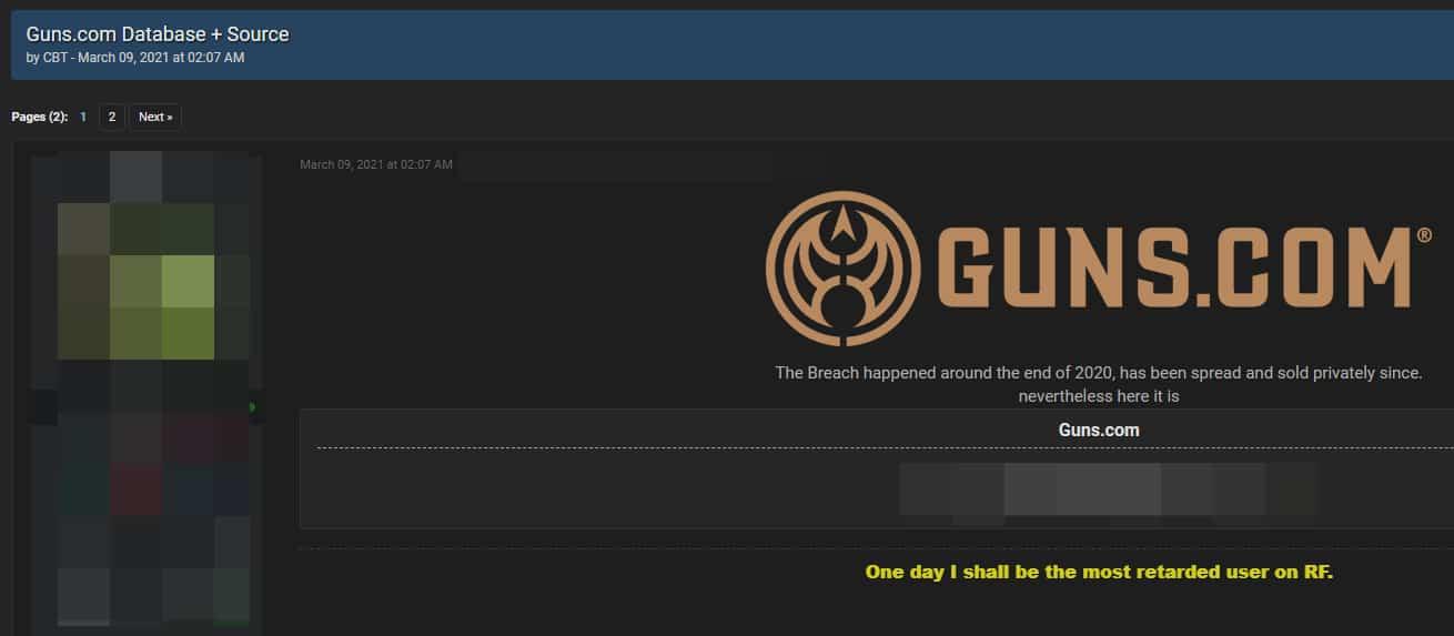Nom : guns-com-hacked-database-leaked-on-hacker-forum-5.jpg Affichages : 1429 Taille : 24,0 Ko