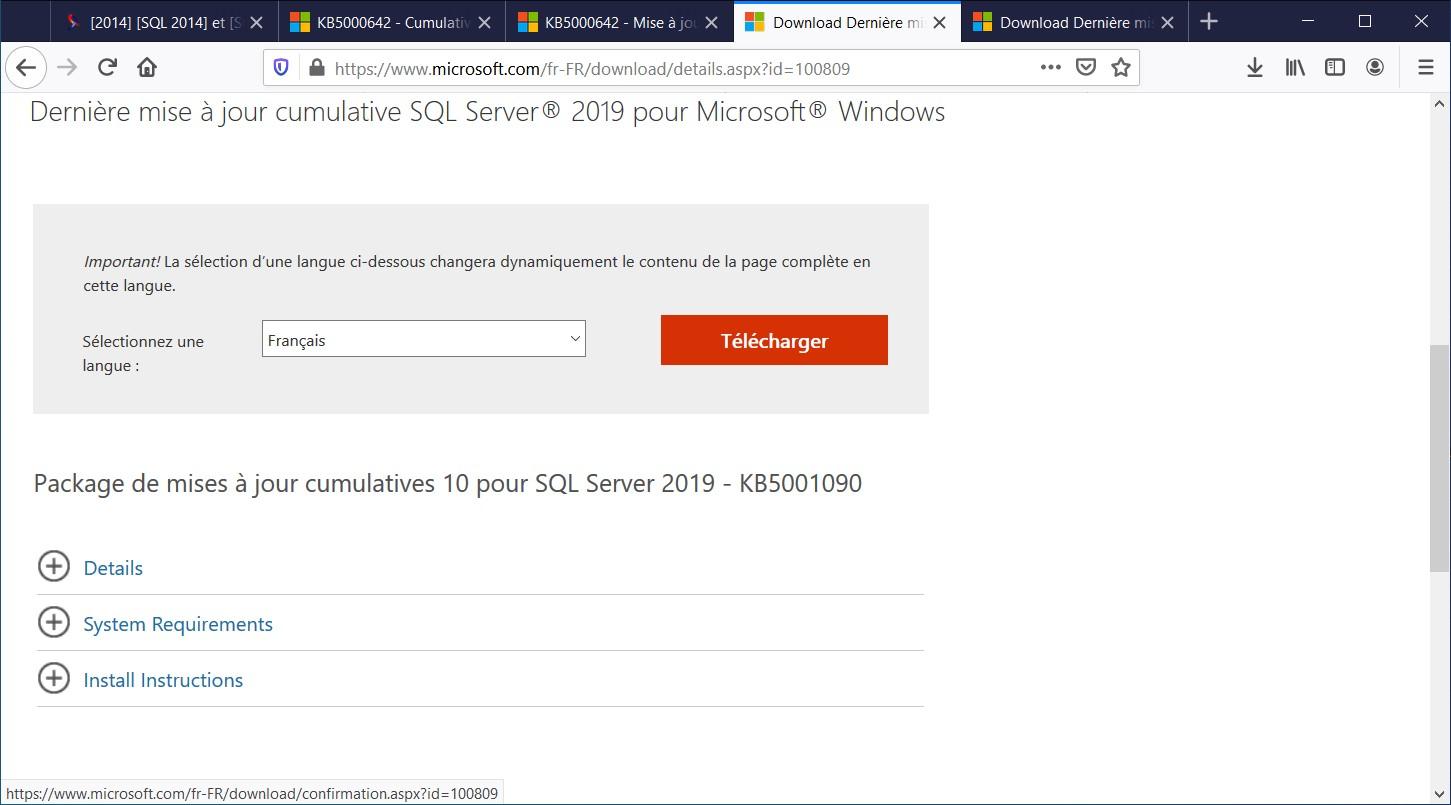 Nom : SQL2019 CU10.jpg Affichages : 48 Taille : 133,2 Ko