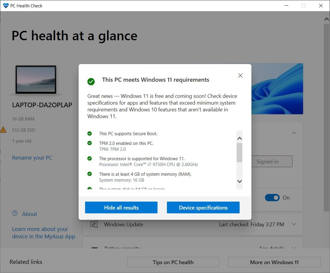 Nom : Windows-11-compatibility-test.jpg Affichages : 2150 Taille : 169,5 Ko