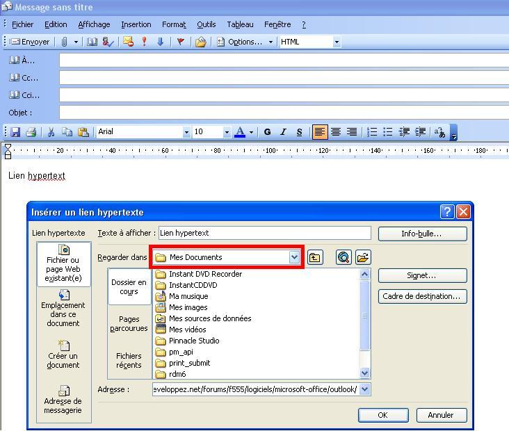 Ol 2003 Dossier Par Defaut Des Liens Hypertext