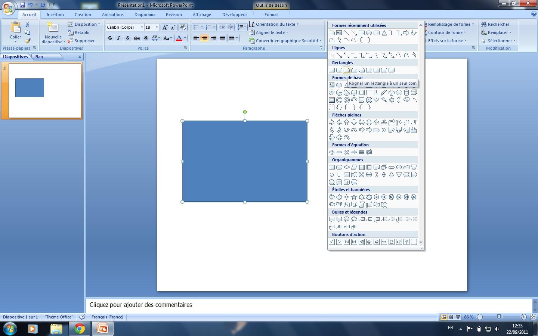 Ppt 2007 rogner une image un seul coin for Dans word