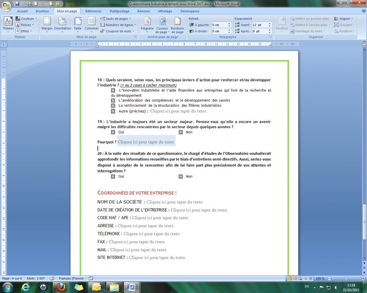 probl u00e8me formulaire word 2007